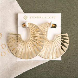 NEW Kendra Scott Deanne Hoop Earrings In Gold